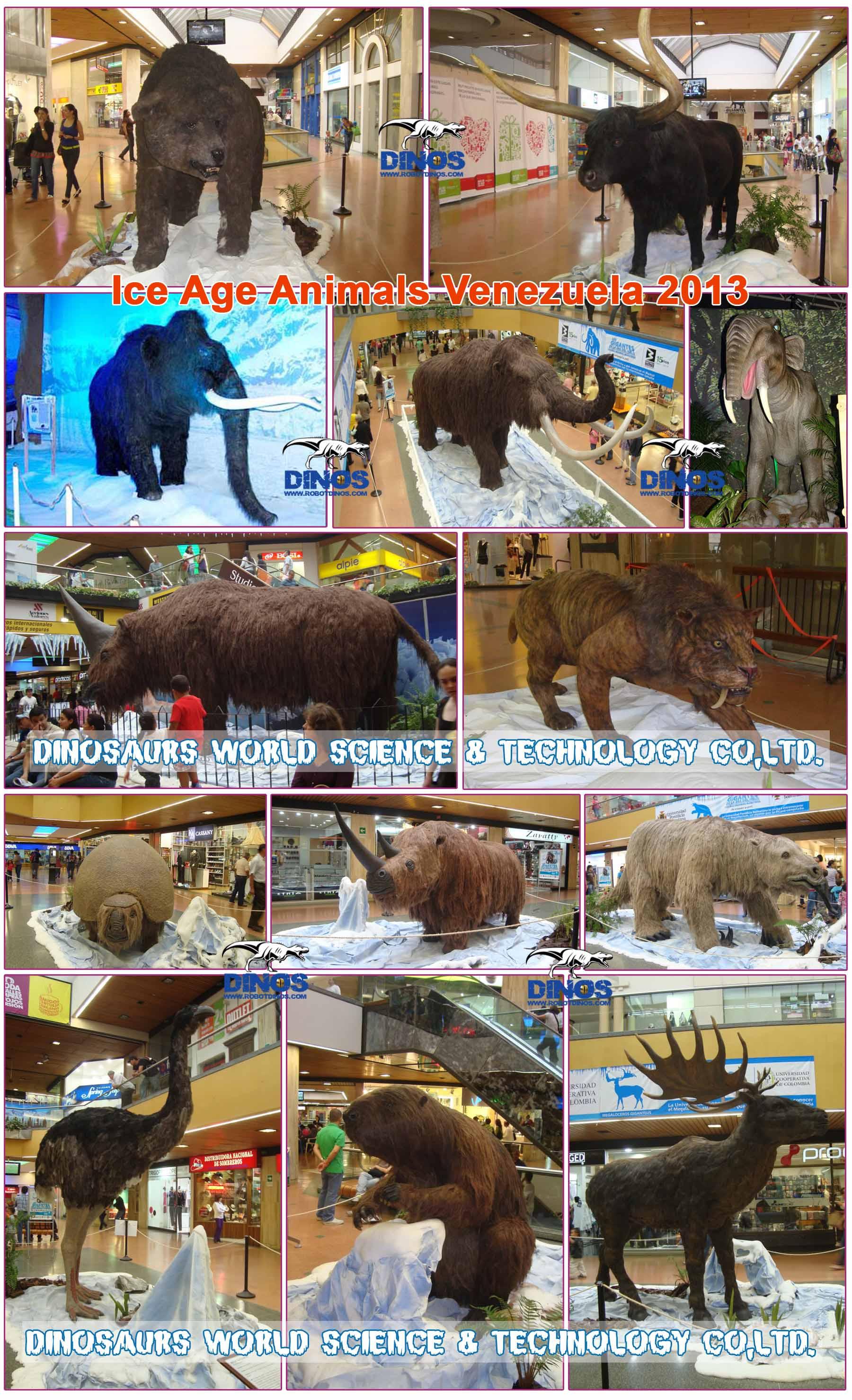 ice age animals,robotic animals,prehistorical animals