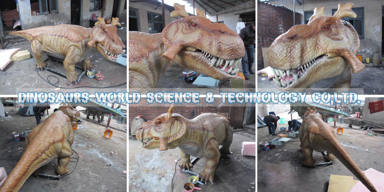 robotic Estemmenosuchus,robotic dinosaurs,robotic animals,museum quality high standard dinosaurs