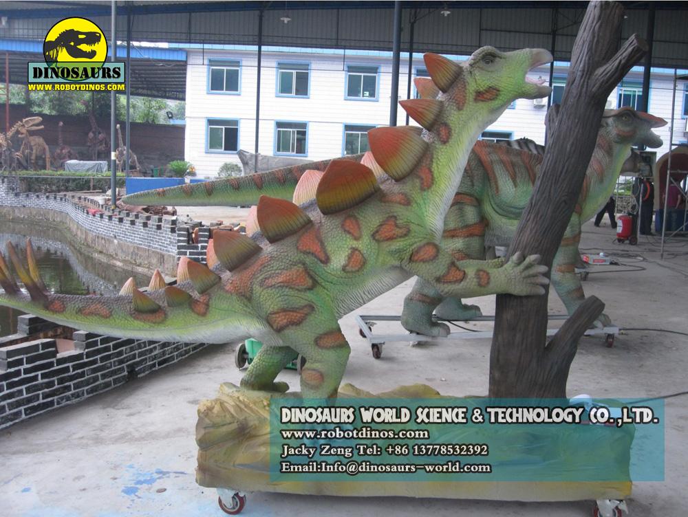 Dinosaurs shaking trees