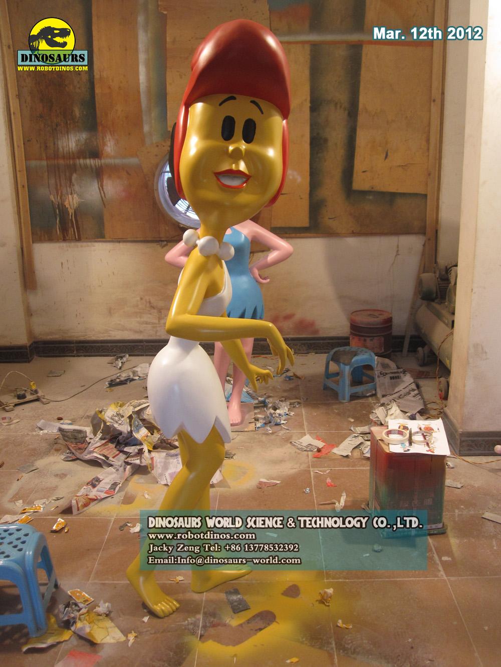 Alive Looking Fiberglass Comic Characters Wilma Flinstones