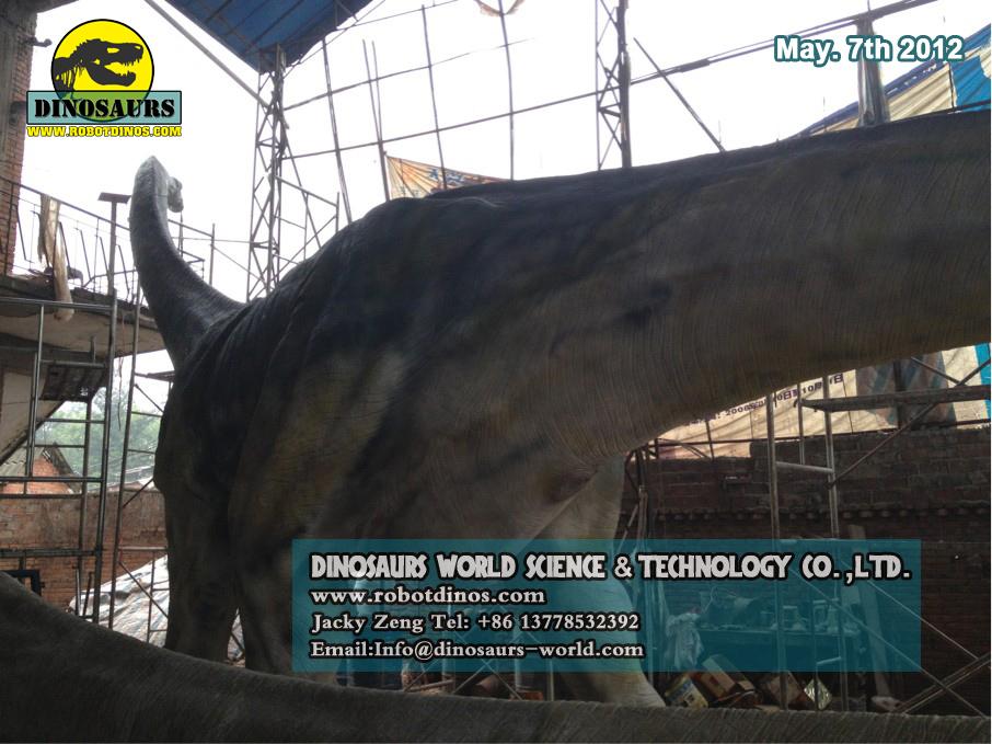 Alive Looking Fiberglass Dinosaur Titanosaurus