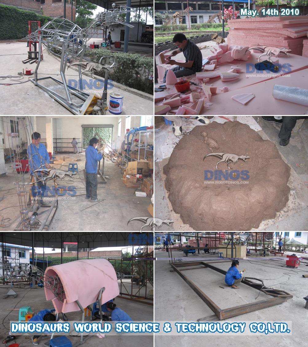 Postupak metalne strukture animatroničnih dinosaura u tvornici svibanj. 14. 2010