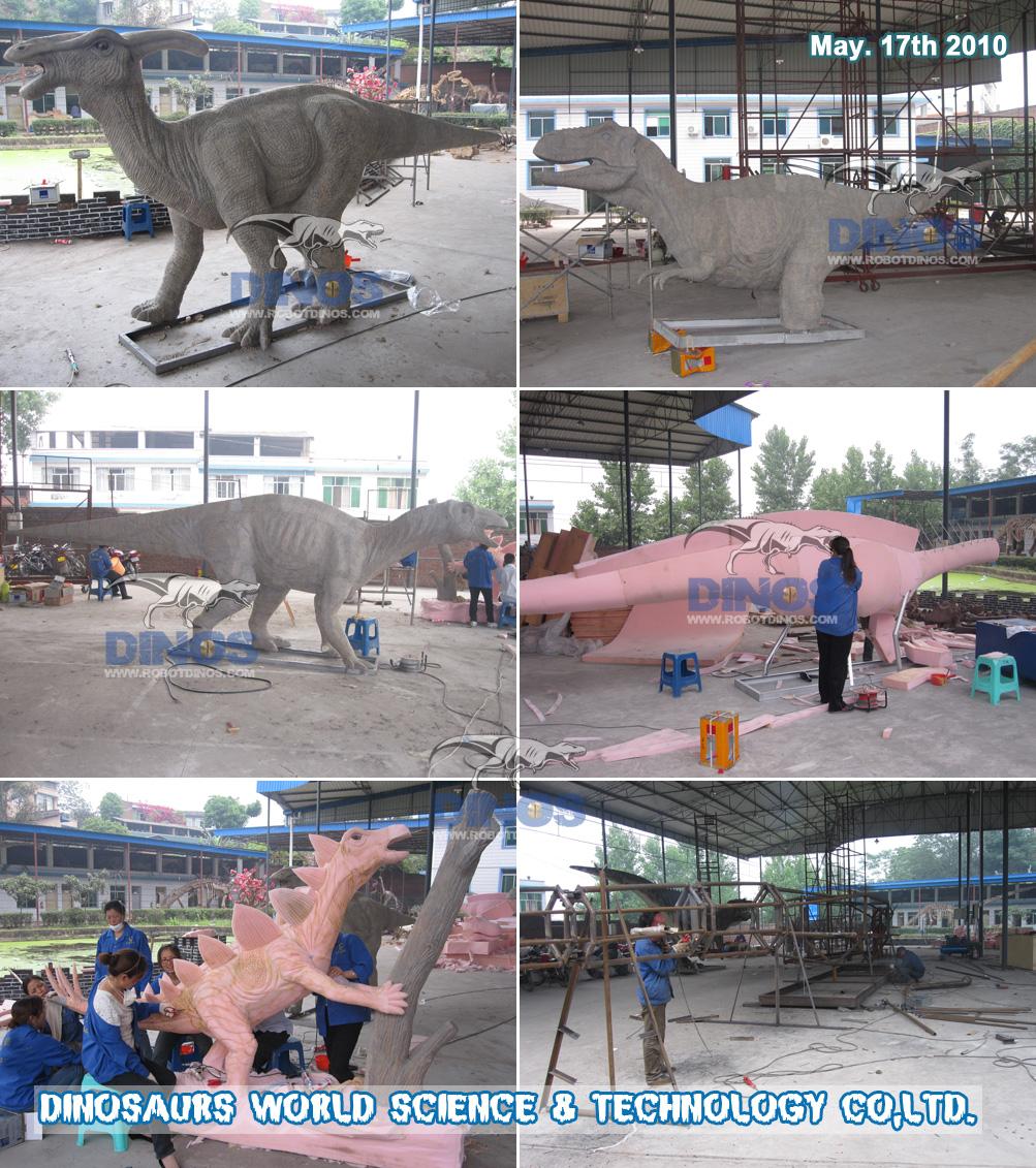Animatronic spužva za dinosaure radi u tvornici svibanj. 17. 2010