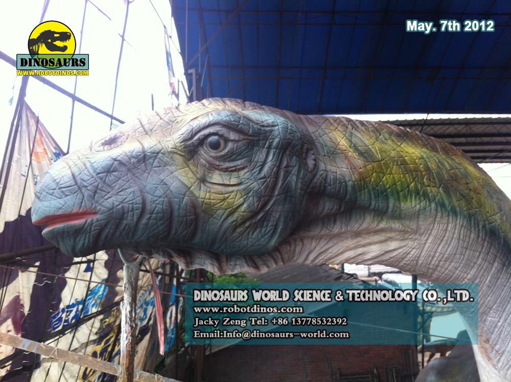 Life Size Fiberglass Dinosaur Titanosaurus Head View