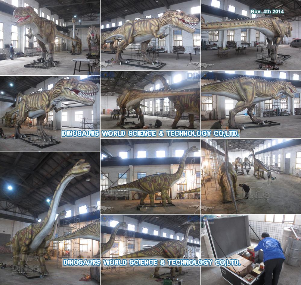 4 velika Animatronic dinosaura za kupca iz Češke Republike završena su u tvornici