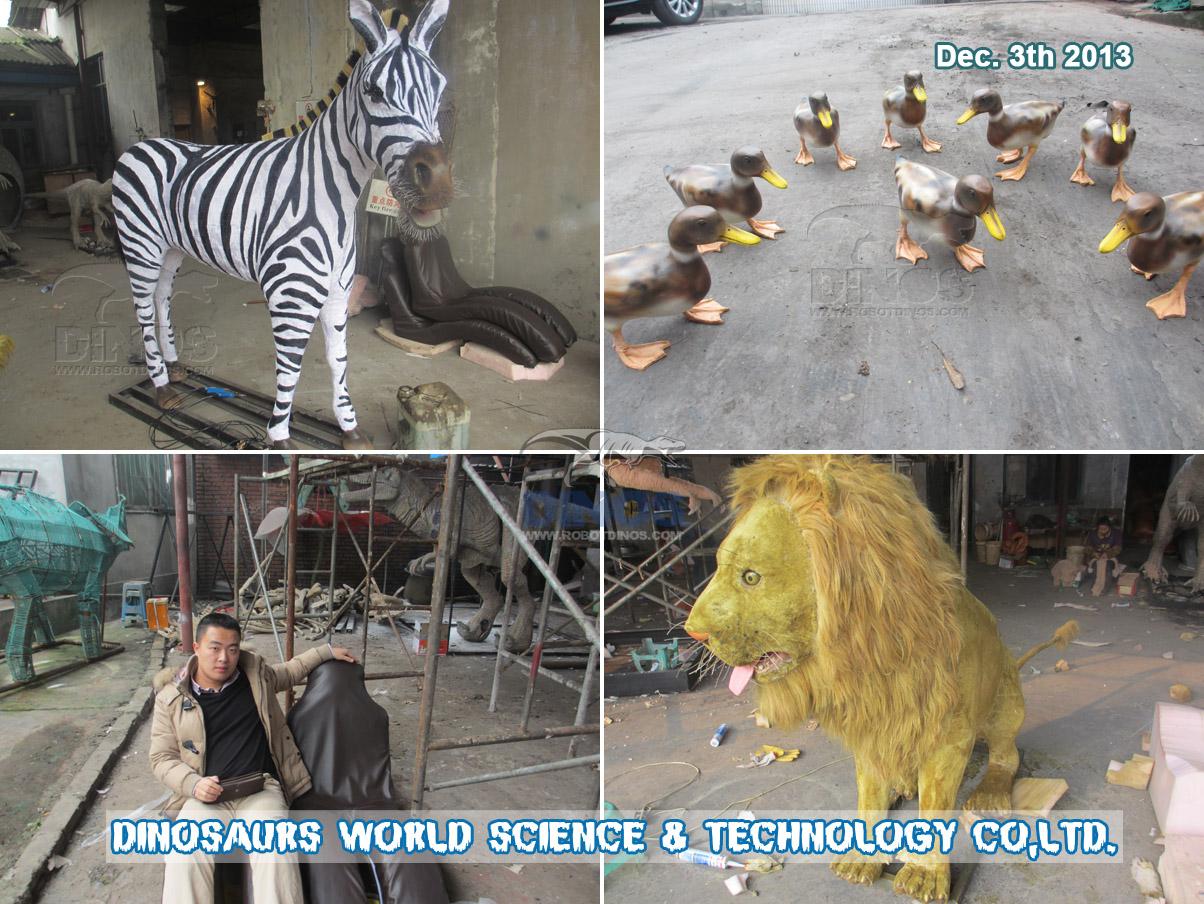 Sve životinje i model za jednostavno sjedenje dovršeni su u tvornici 3. prosinca 2013