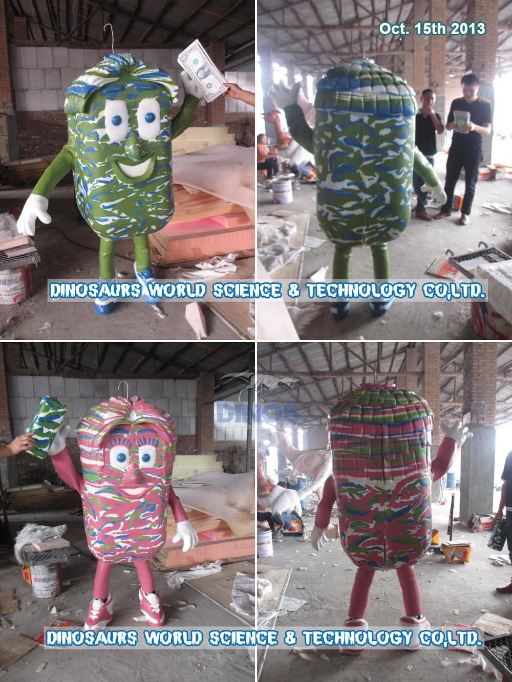 Prilagođeno odijelo za maskote dovršeno u tvornici 15. listopada 2013