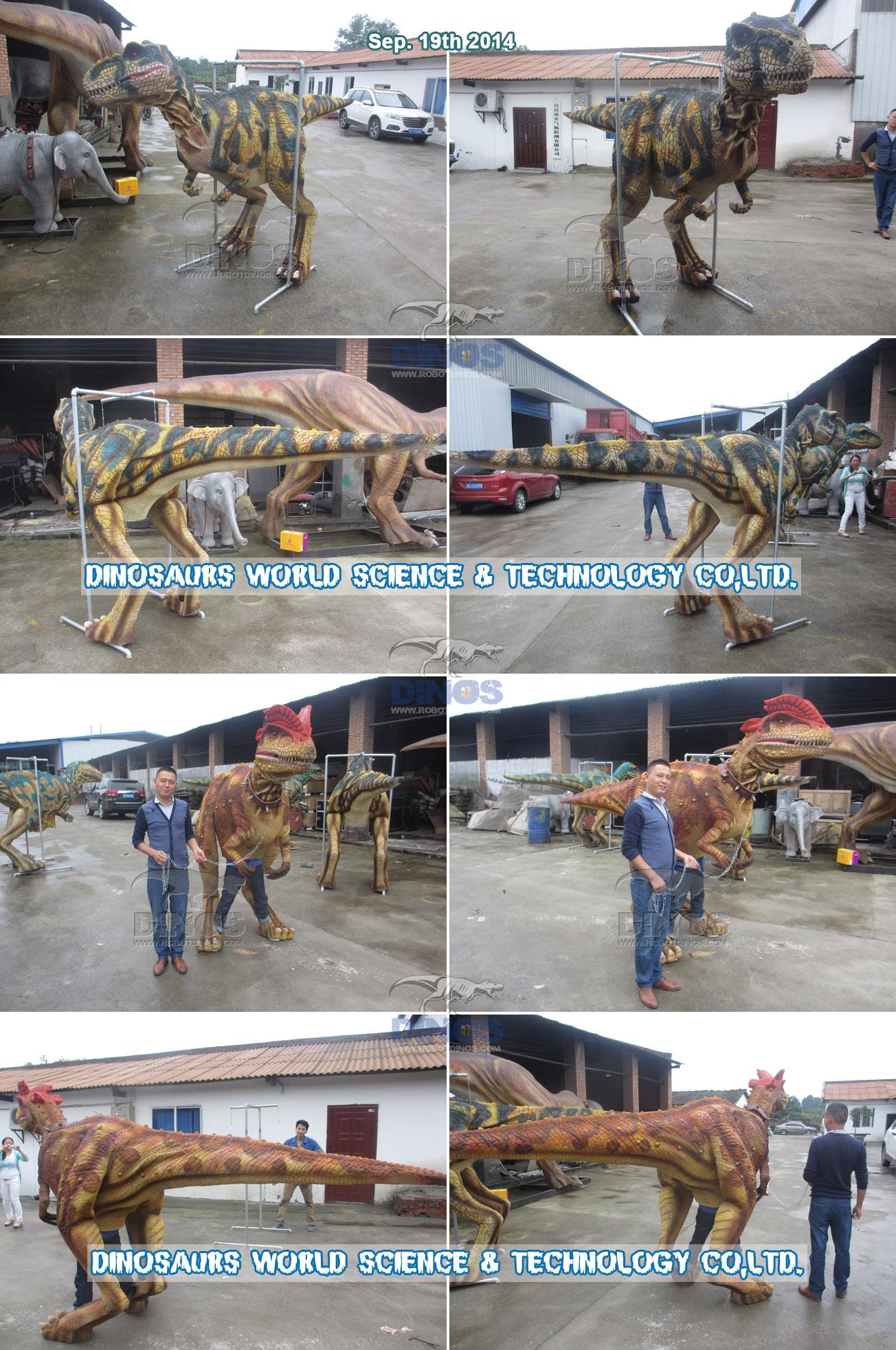 Kostimi dinosaura gotovi i testiraju kvalitetu u tvornici