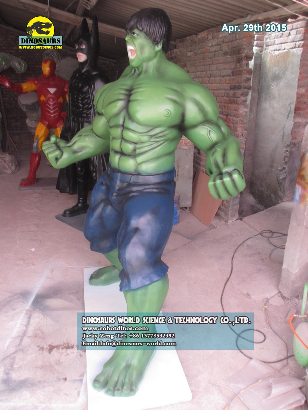 Fiberglass Characters Green Hulk