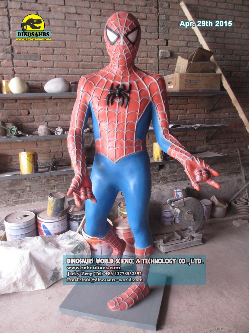 Fiberglass Comic Characters Spider man