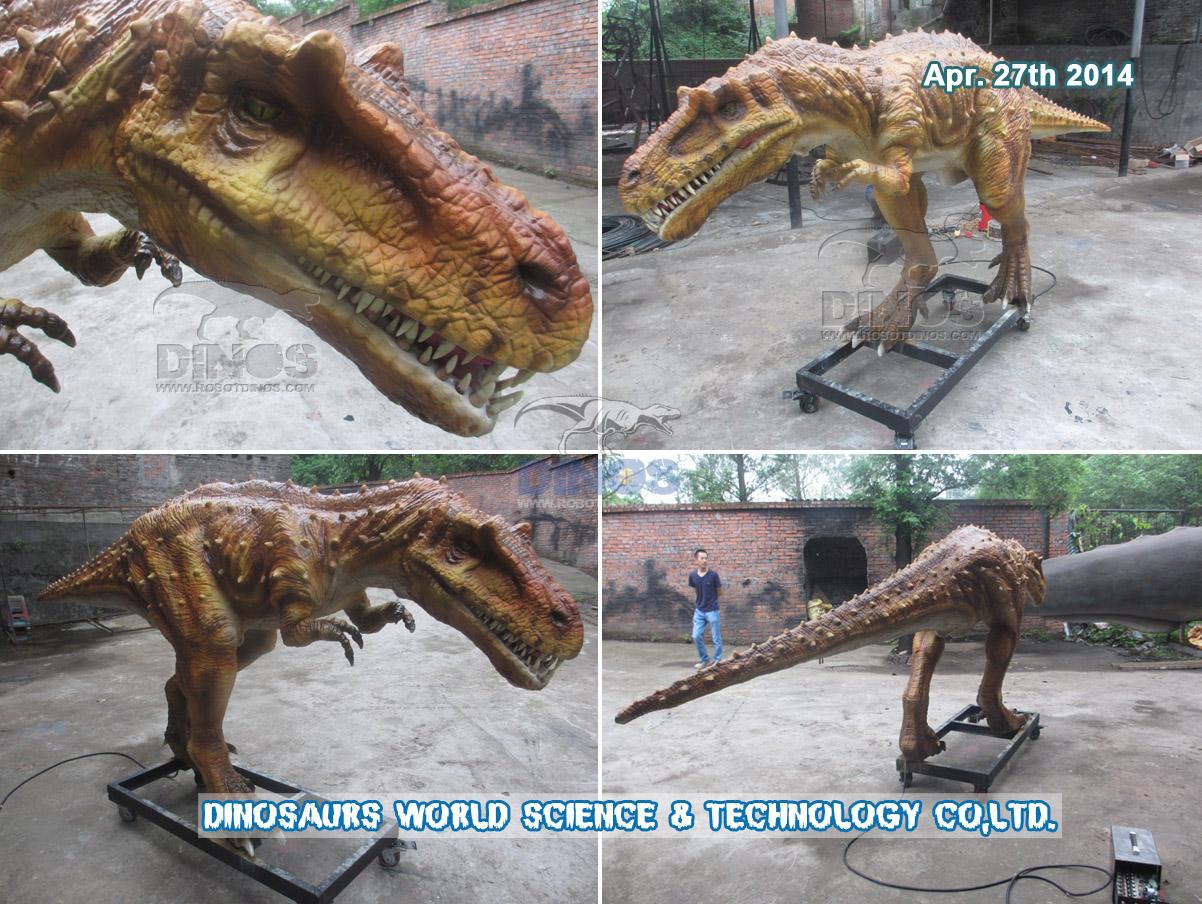 Robotski albertosaurus u prirodnoj veličini završen u tvornici