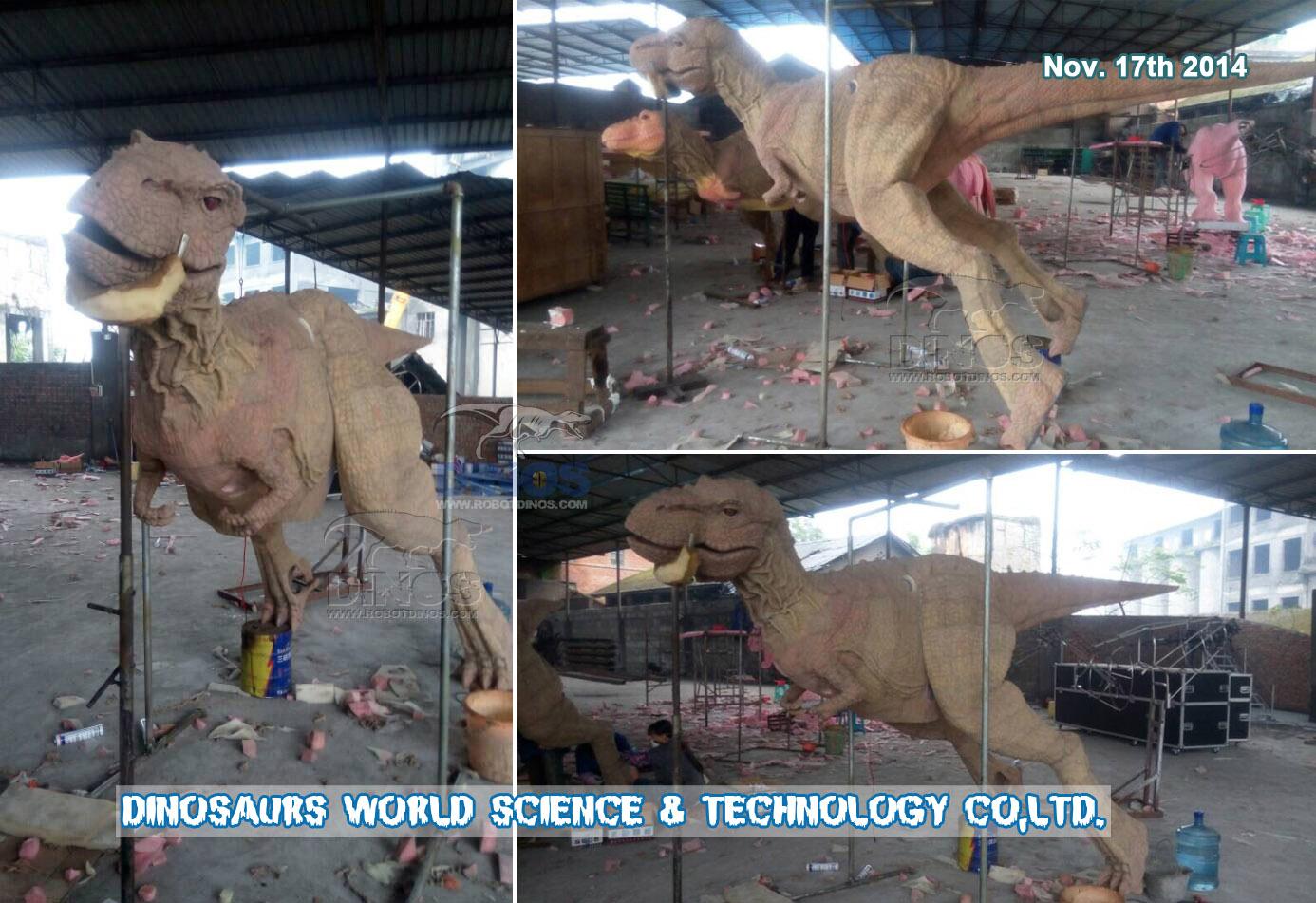 Postupak izrade kože od silicijeve gume za T-Rex odijelo za dinosaure