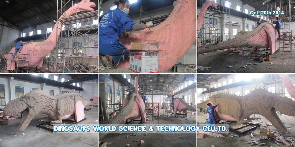 Koža od silicijeve gume koja u tvornici radi za animatronične dinosaure