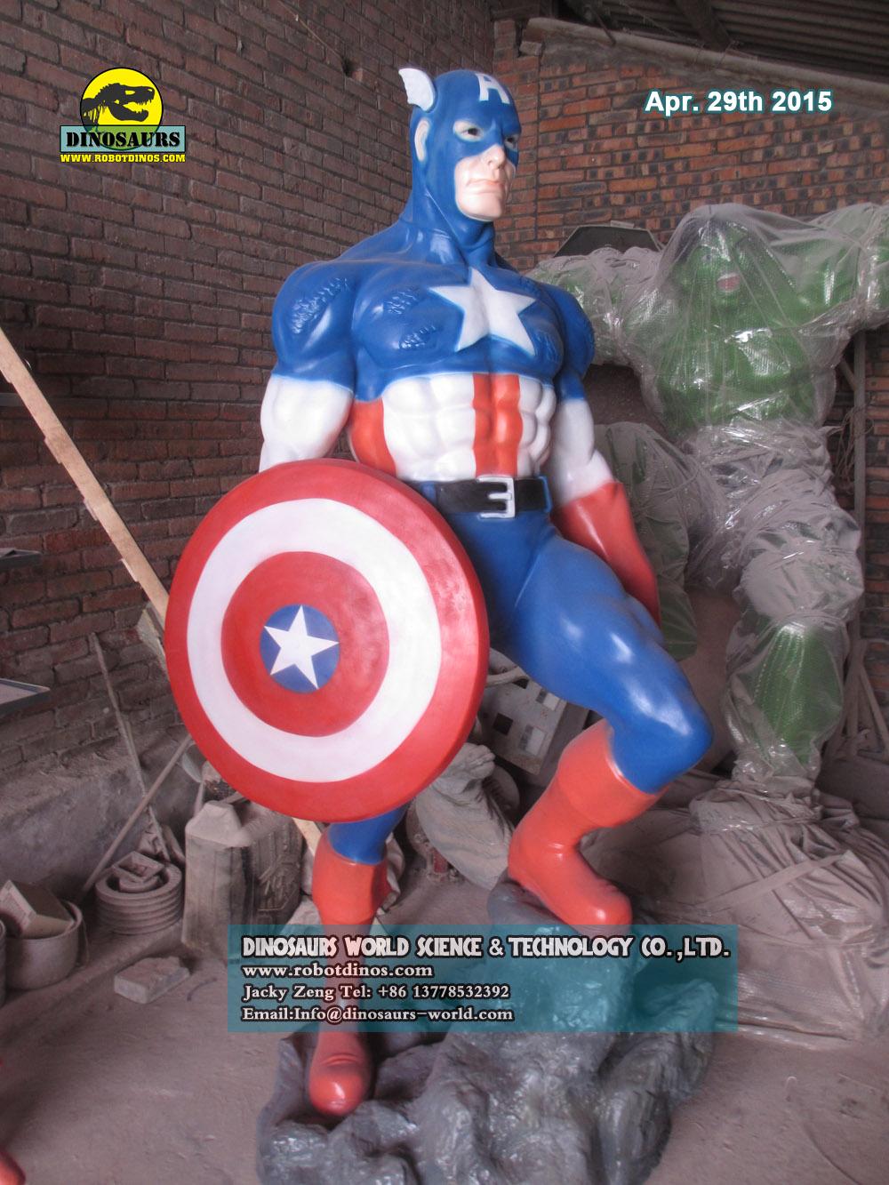 Statue American Captain