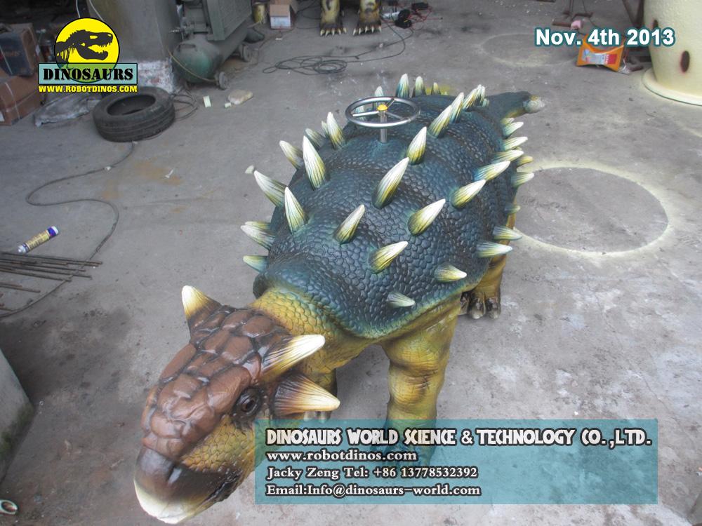 Walking Dinosaur Ride Ankylosaurus