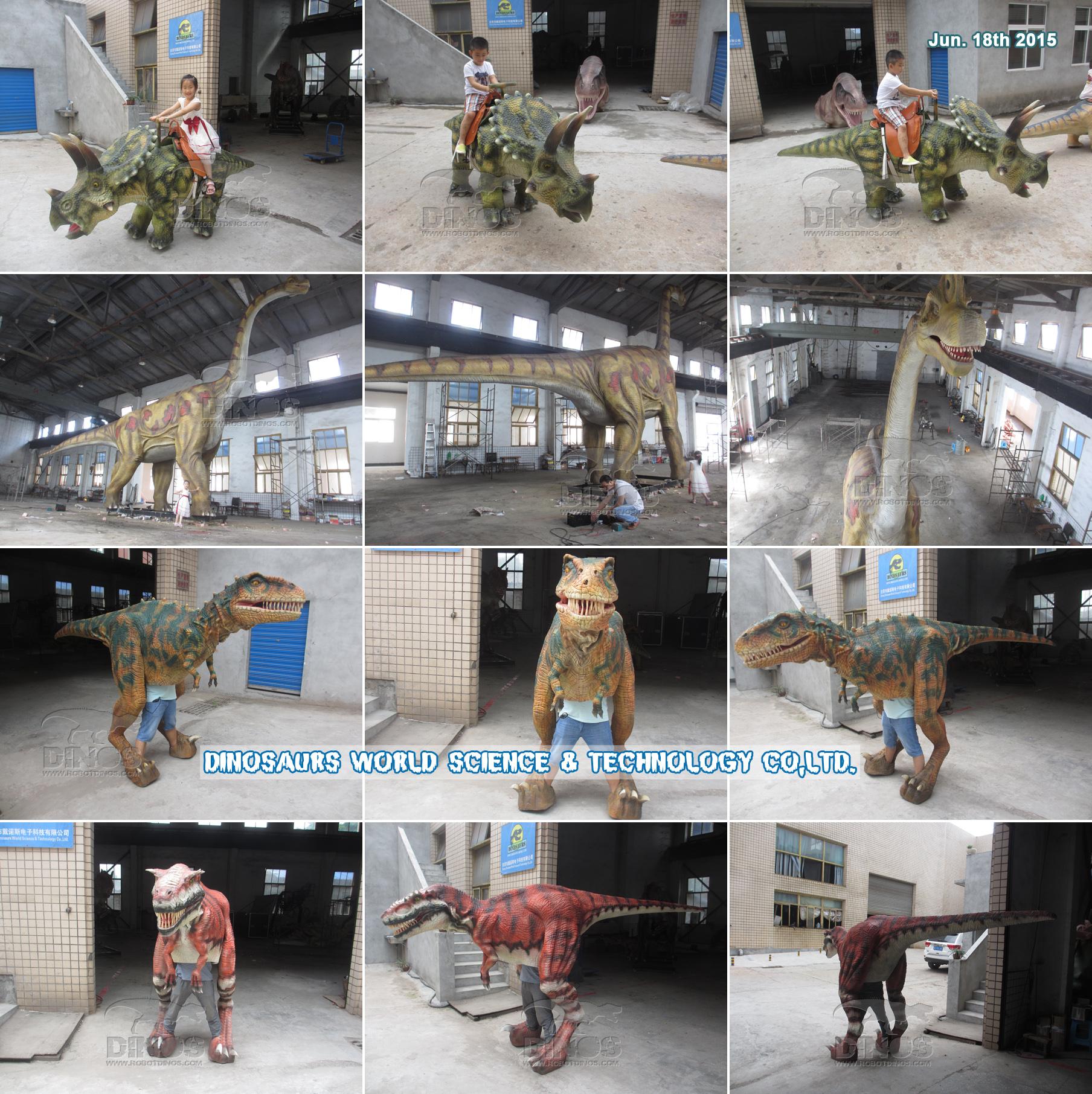 Animatronični dinosauri završeni u tvornici 18. lipnja 2015