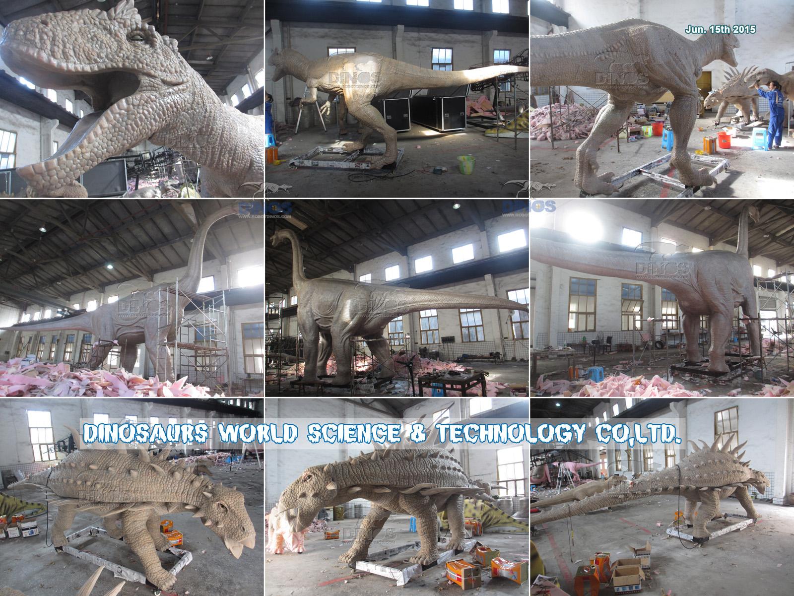 Proces silicijske gume za robotske dinosaure 15. lipnja 2015