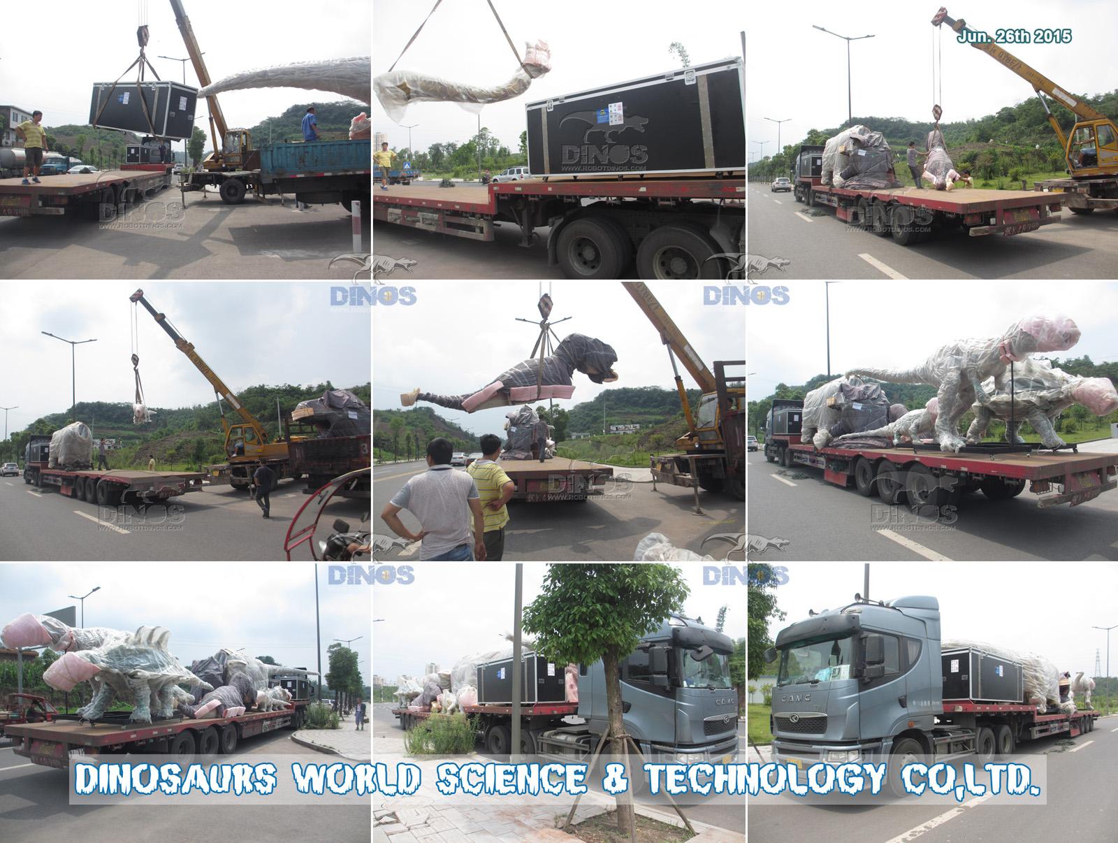 Prijevoz svih dinosaura od tvornice do luke Shenzhen 26. lipnja 2015
