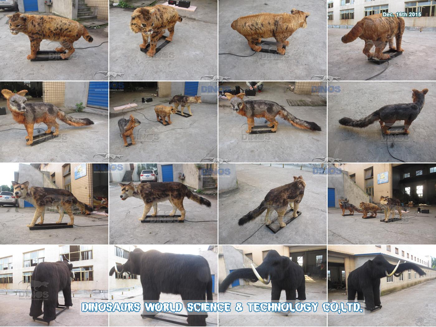 Animatronične životinje dovršene u tvornici za kupca u Meksiku