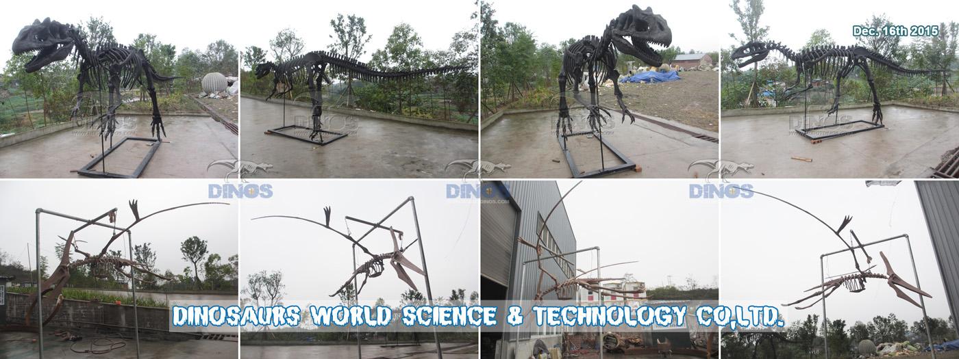 Kostur dinosaura - alosaurus završen u tvornici