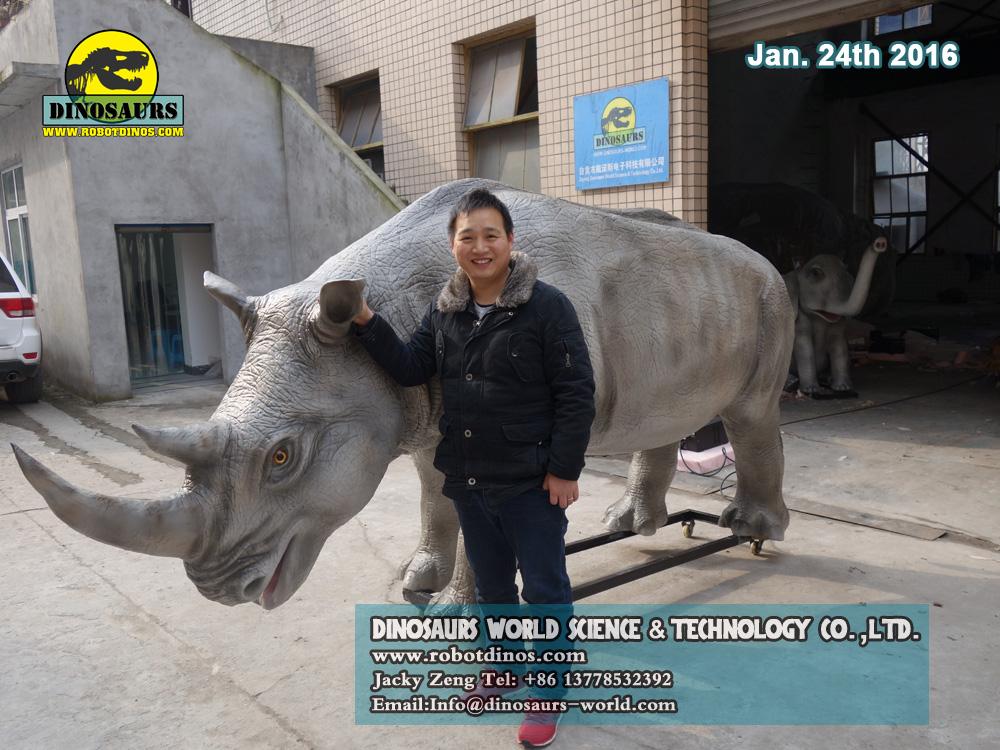 Life Size Animatronic Rhino