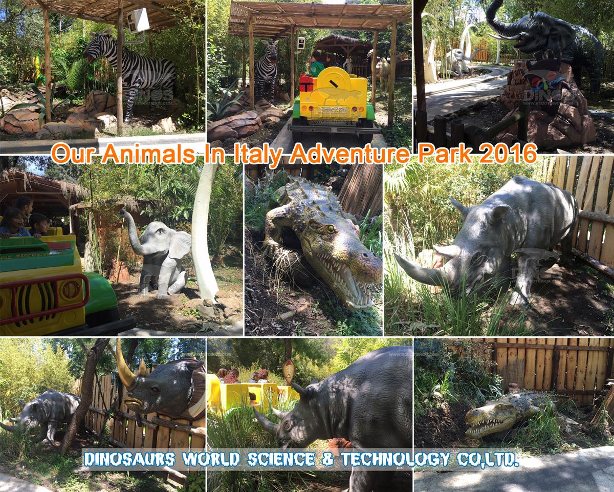 Naše životinje u talijanskom pustolovnom parku nakon instalacije