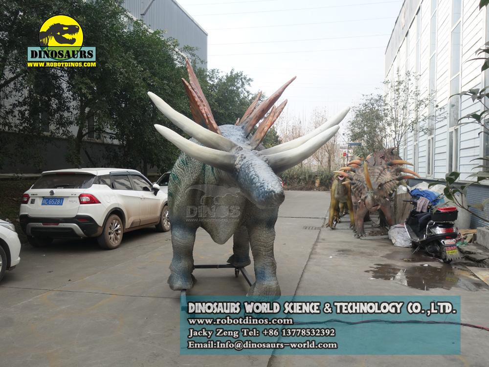 Life Size Animatronic Dinosaurs Model Stegosaurus