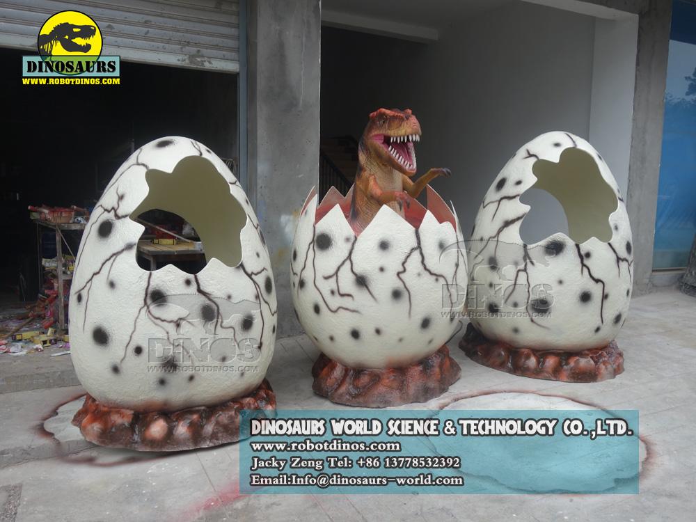 Fiberglass Dinosaur Egg Shell For Children ( 3Units ) , dinosaur skull replica