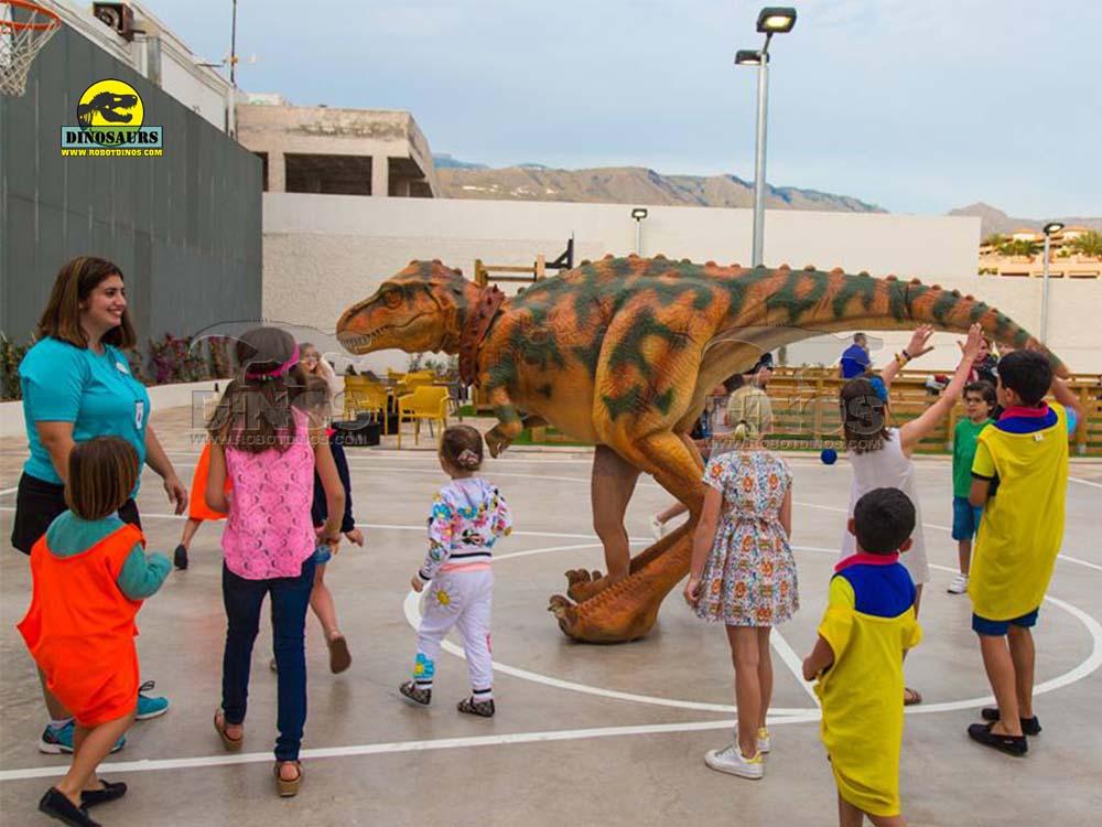 Fato de dinossauros animatrônicos
