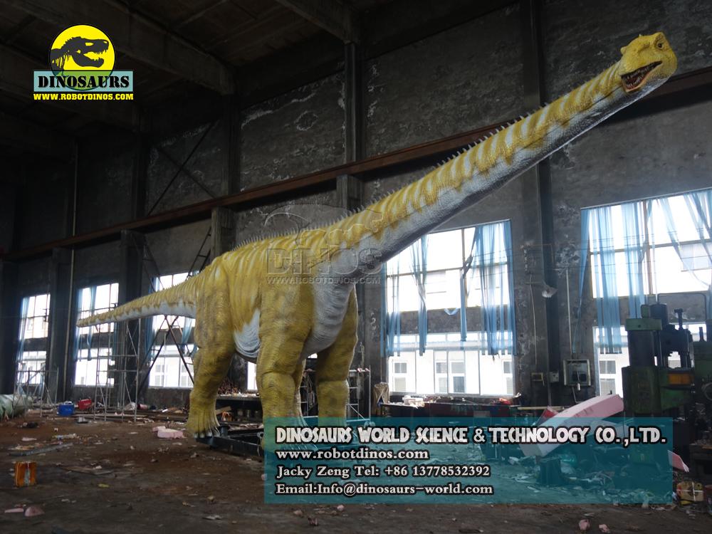 Jurassic theme park huge dinosaur diplodocus