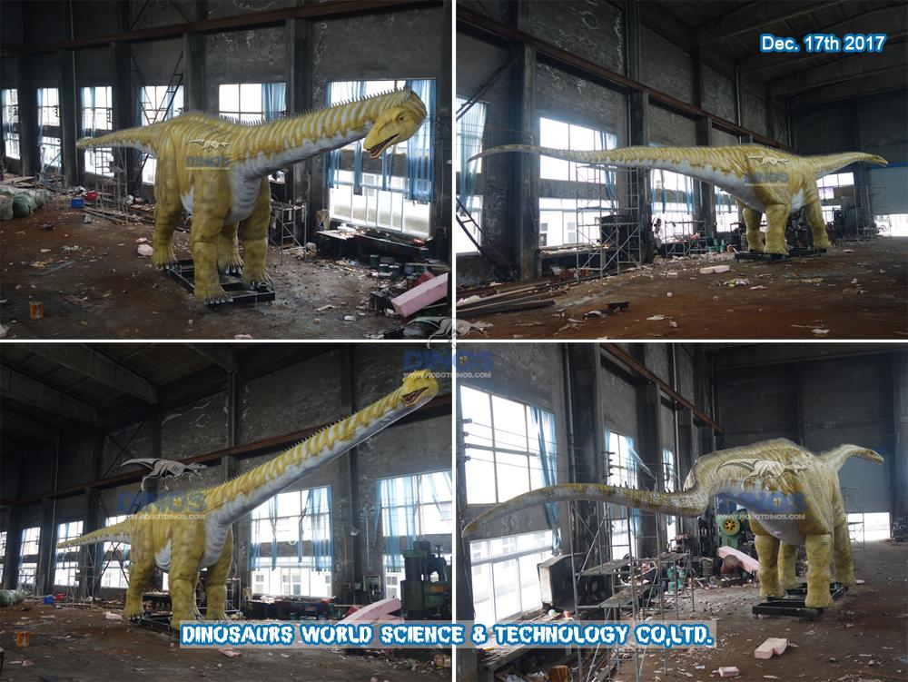 realistički dinosauri u prirodnoj veličini Diplodocus završen u tvornici 17. prosinca 2017
